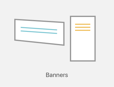 Banner printing icon