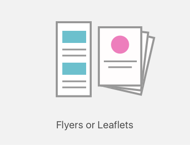 Flyers and leaflet printing icon