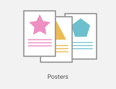 Poster printing icon