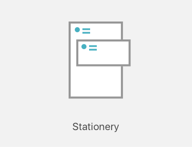 Stationery printing icon